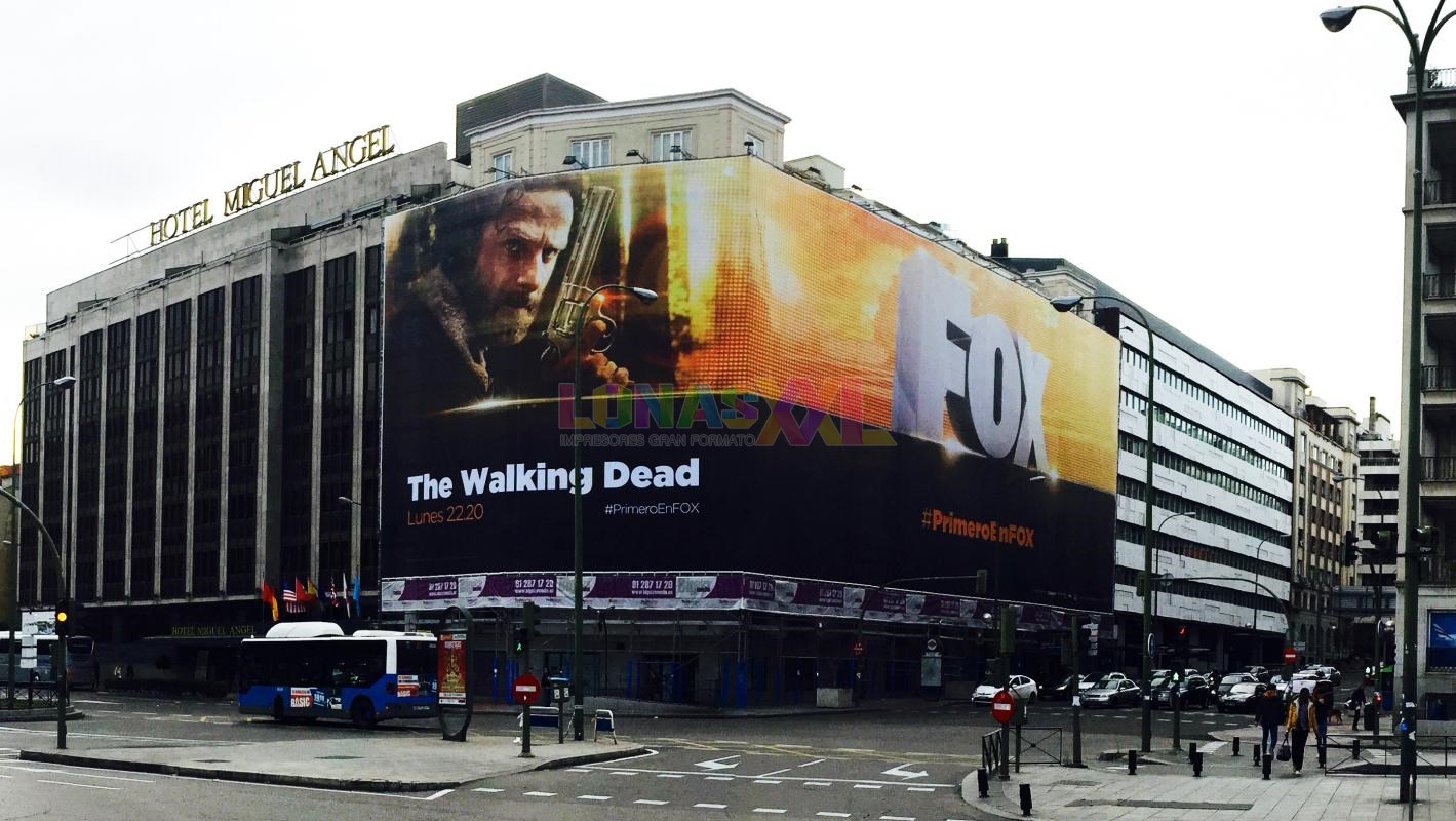 Lona impresa The Walking Dead