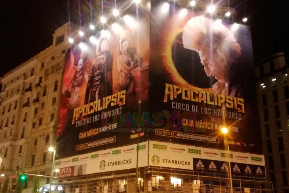 Lona impresa Apocalipsis - Circo de los Horrores