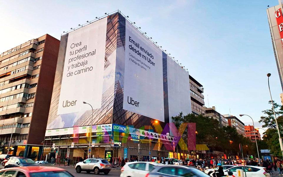 Lona impresa Uber