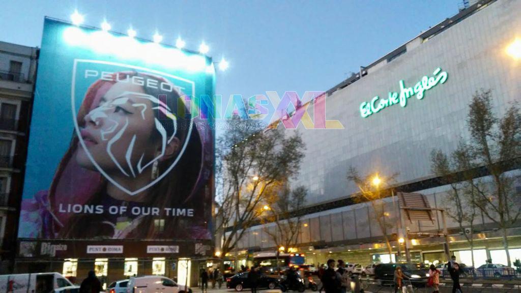 Lona Peugeot Madrid