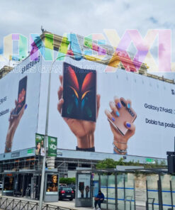 Lona fachada Samsung