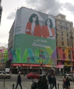 Lona publicitaria Más Madrid