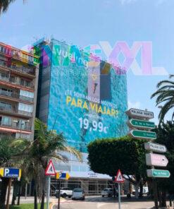 Lona fachada Vueling Málaga